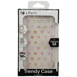i-Paint Soft Case Hearts TPU Soft for Samsung Galaxy S8 Clear