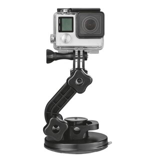 Trust 21351 Universal Suction Cup Action-Cam Mount + QuickClip for GoPro HERO 8/7/6/5/4/3
