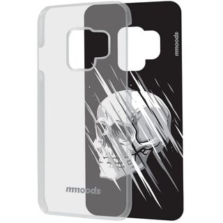 mmoods Case Clear with 1 Insert Glitchy Skulls for Samsung Galaxy S9