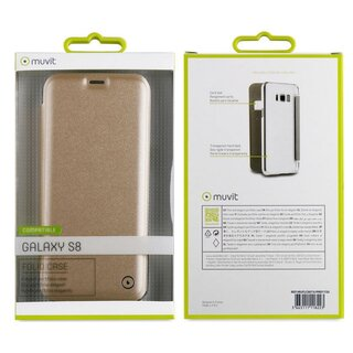 Muvit Folio Case Gold for Samsung Galaxy S8