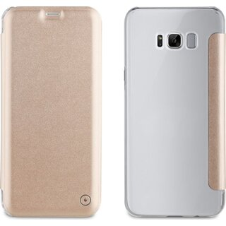 Muvit Folio Case Gold für Samsung Galaxy S8