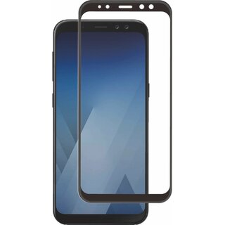 Muvit Curved 9H Glass Screen Protector Black for Samsung Galaxy A8 (2018)